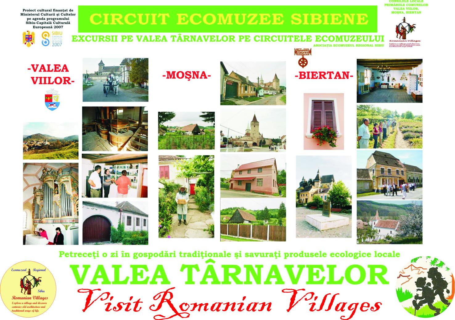 Valea Tarnave circuite ecomuzee